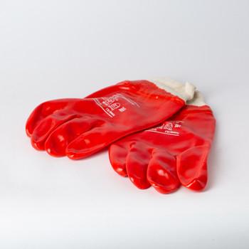 Перчатки трикотажные с нитриловым обливом, крага.