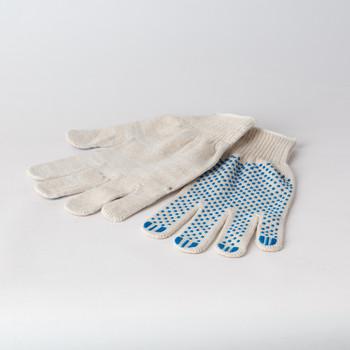 Перчатки х/б с защитой от скольжения ПВХ 5 нитей