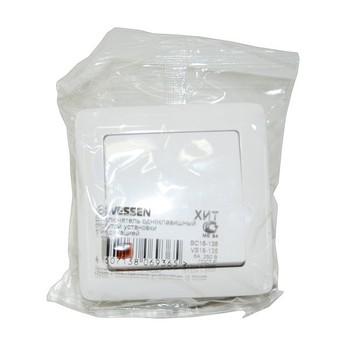 Выключатель 1-кл скрыт. ХИТ белый с подсветкой (6А, 230В) Wessen VS16- 135-B