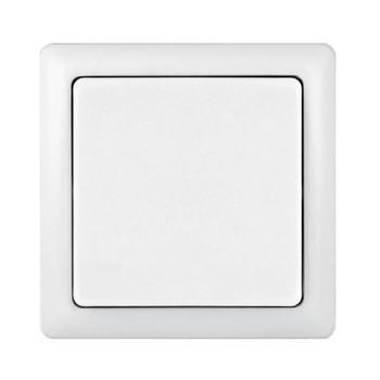Выключатель одноклавишный белый накладной 6А ХИТ WESSEN