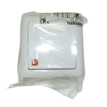 Выключатель 1-кл наруж. ХИТ белый с подсветкой (6А, 230В) Wessen VA16- 137-B