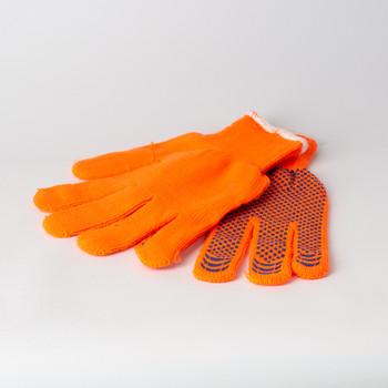 Перчатки утепленные с ПВХ, сигнальные