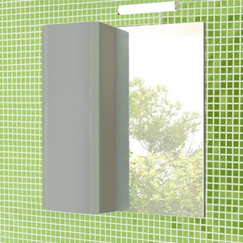 Зеркальный шкаф Comforty Рим 60 серый