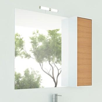 Зеркальный шкаф Comforty Терция 90 кофе