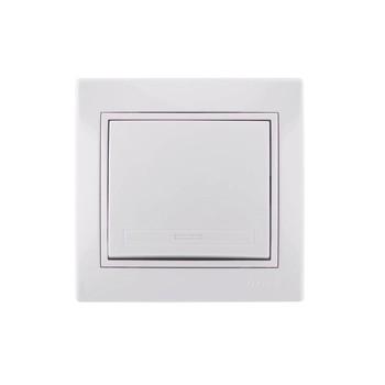 Выключатель 1-кл скрыт. МИРА белый (10А, 250В) Lezard 701-0202-100