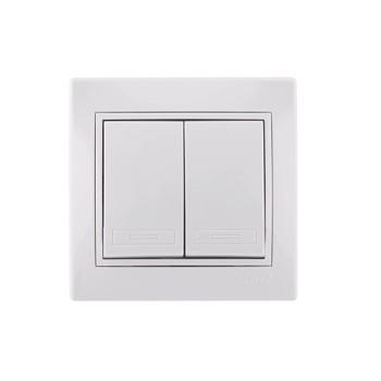 Выключатель 2-кл скрыт. МИРА белый (10А, 250В) Lezard 701-0202-101