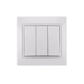 Выключатель 3-кл скрыт. МИРА белый (10А, 250В) Lezard 701-0202-109