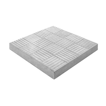 Плитка тротуарная Паркет 300*300*30, серый