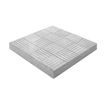 Плитка тротуарная Паркет, 300х300х30мм серый
