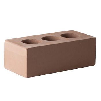Кирпич облицовочный силикатный пустотелый полуторный М-150/200, коричневый, Поревит