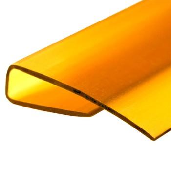 Профиль торцевой желтый, 4мм х2,1м