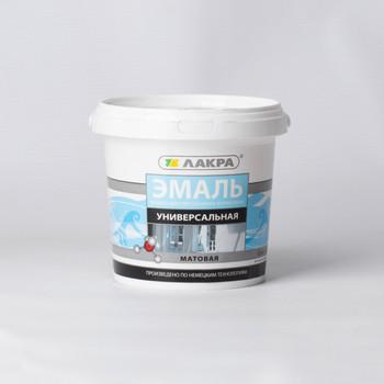 Эмаль акриловая Лакра белая, матовая, 0,9кг