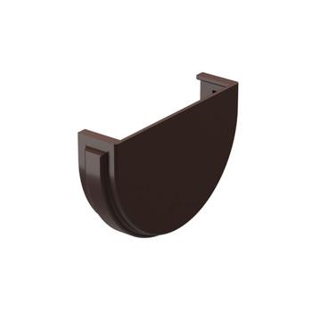 Заглушка желоба шоколад Дёке