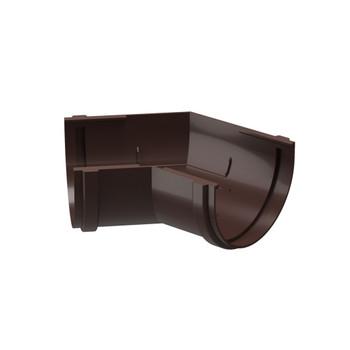 Угловой элемент желоба 135гр. шоколад Дёке