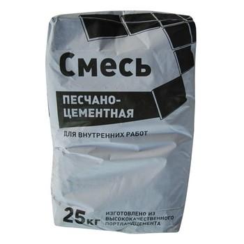 Смесь цементно-песчанная 25кг Без бренда