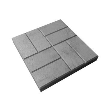 Плитка тротуарная 8 кирпичей серый (400x400x50)
