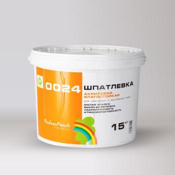 Шпатлевка Радуга-0024 акрил. фасадная, 15 кг