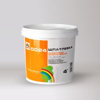 Шпатлевка Радуга-0024 акрил. фасадная, 4 кг