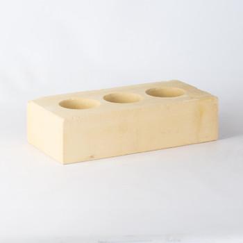 Кирпич облицовочный силикатный пустотелый одинарный М-150/200, желтый, Поревит
