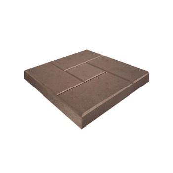 Плитка тротуарная Кирпичик, 300х300х30мм коричневый
