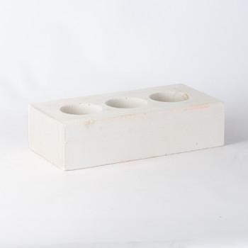 Кирпич облицовочный силикатный пустотелый одинарный М-150/200, белый, Поревит