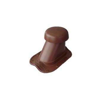 Выход вентиляции универсальный Ø110/200 на металлочерепицу (коричневый)