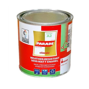 Эмаль PARADE А2 белая п/мат.(0,75 л)