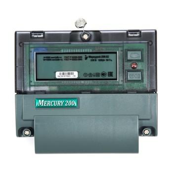 Счетчик Меркурий 200.02 (5-60А, 1 кл. точ., 1-фазный, 4-тарифный)