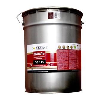 Эмаль ПФ-115 кремовая гл 20кг Лакра