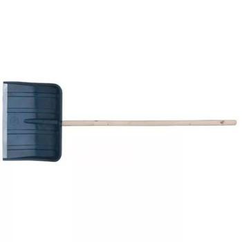 Лопата снегоуборочная пластиковая 50х38,2см с деревянным черенком