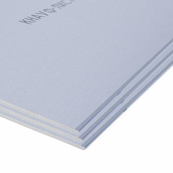 Лист гипсоволокнистый влагостойкий 2500x1200x12,5 Кнауф (без фаски)