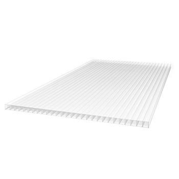 Поликарбонат cотовый Тепличный, прозрачный 4мм 2,1х6м, плот 0,47кг/м2