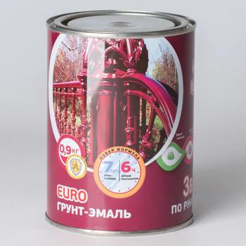 Грунт-эмаль по ржавчине 3в1 красно-коричневая, 0,9 кг Olecolor