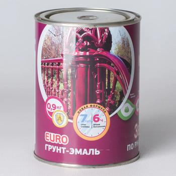 Грунт-эмаль по ржавчине 3в1 шоколадная, 0,9 кг Olecolor