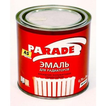 Эмаль PARADE А5 белая termo п/мат.(0,75 л)