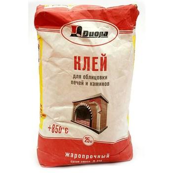 Клей для облиц. печей и каминов Диола-314, 25 кг