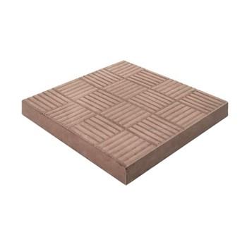 Плитка тротуарная Паркет 300*300*30, коричневый