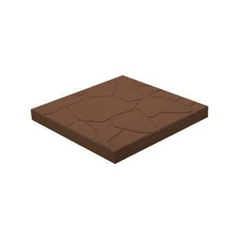 Плитка тротуарная Тучка, 300х300х30мм коричневая