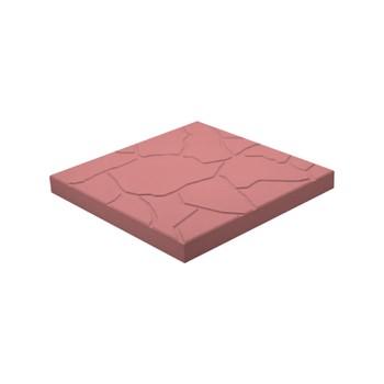 Плитка тротуарная Тучка, 300х300х30мм красная