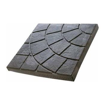 Плитка тротуарная Паутинка, 300х300х30мм серый