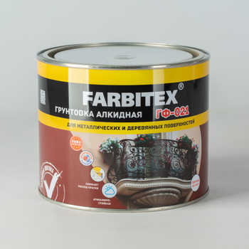 Грунт ГФ-021 серый (1,8 кг) FARBITEX