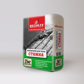 Ровнитель цементный Rezolit Основной для пола, 25 кг