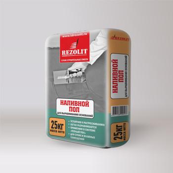 Ровнитель цементный наливной пол Rezolit 25 кг