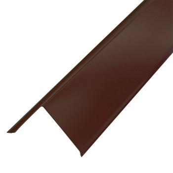 Планка торцевая Металлпрофиль Pe RAL 8017 95x120x2000мм шоколад