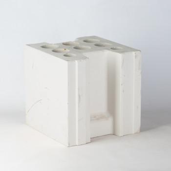 Блок силикатный среднеформатный СБС 1-250 248х250х248 мм