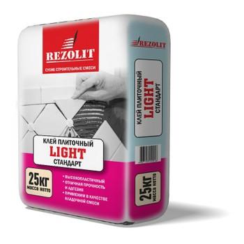 Клей для плитки LIGHT RCL-12 Rezolit 25кг