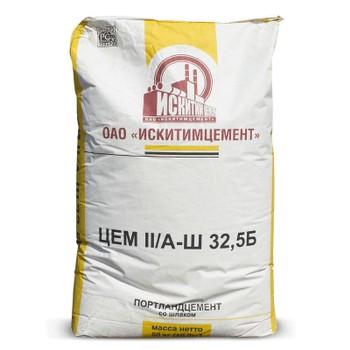 Цемент ЦЕМ II/А-Ш 32,5Б (ПЦ-400 Д20), Искитим, 50кг