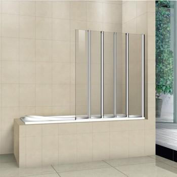 Шторка на ванну Cezares Pratico 120 см (PRATICO-V-5-120/140-P-Cr-R) складная