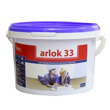 Клей Arlok (Arlok 33, 4 кг, универсальный для напольных, морозостойкий, срок хранения 12 мес, *)