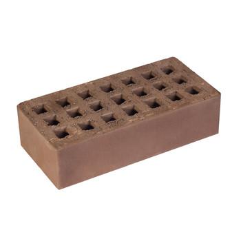 Кирпич облицовочный пустотелыйт одинарный К-1,0 коричневый, Кемма